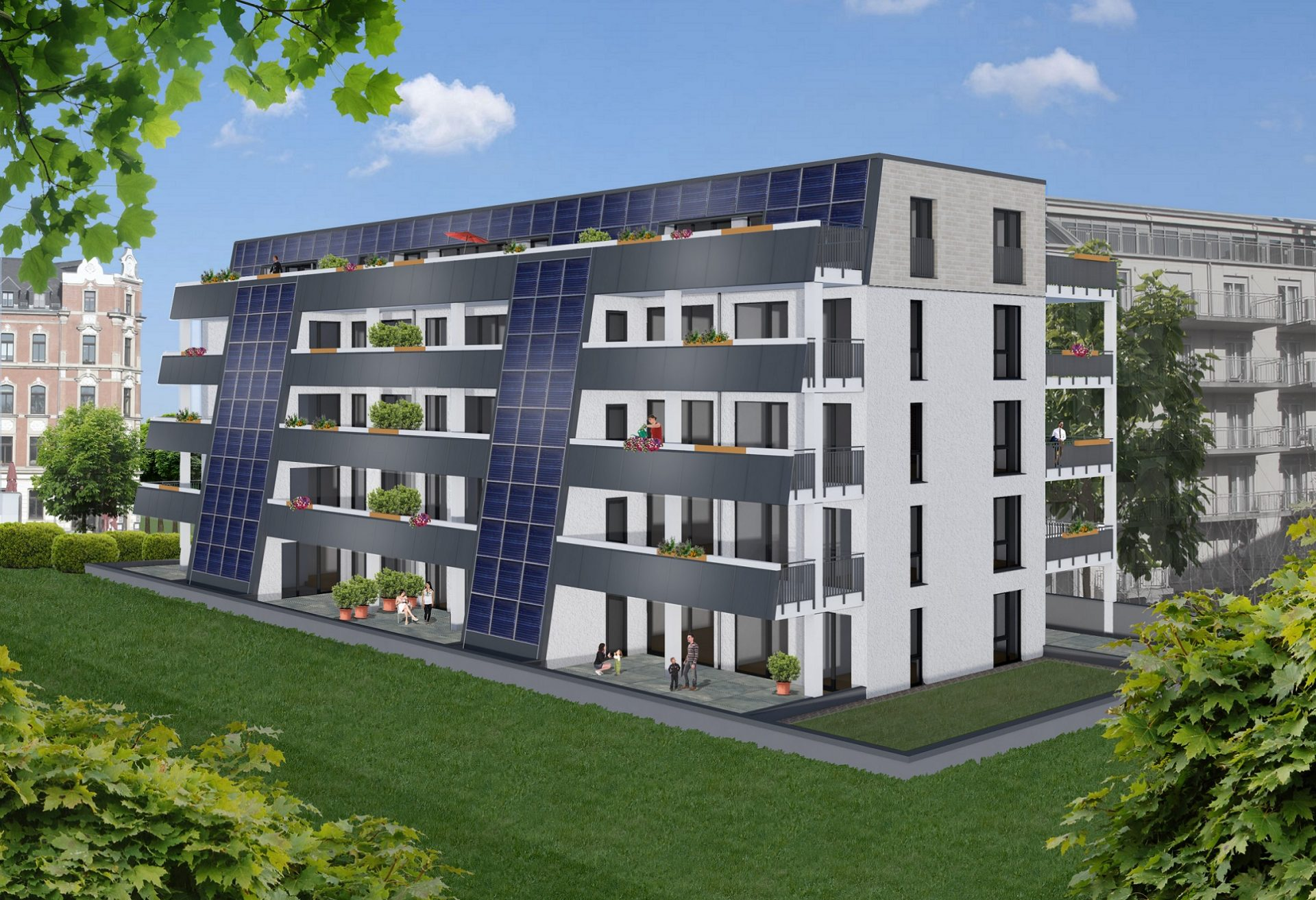 Solardomizil III Gartenansicht