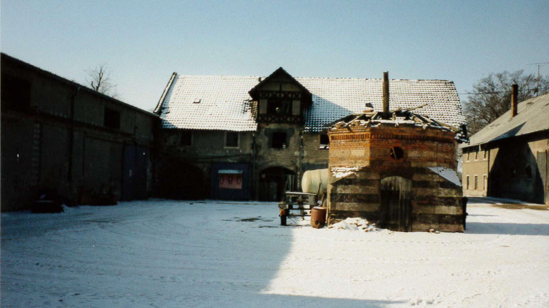 Rittergut Lichtenwalde Taubenhaus - vor Revitalisierung