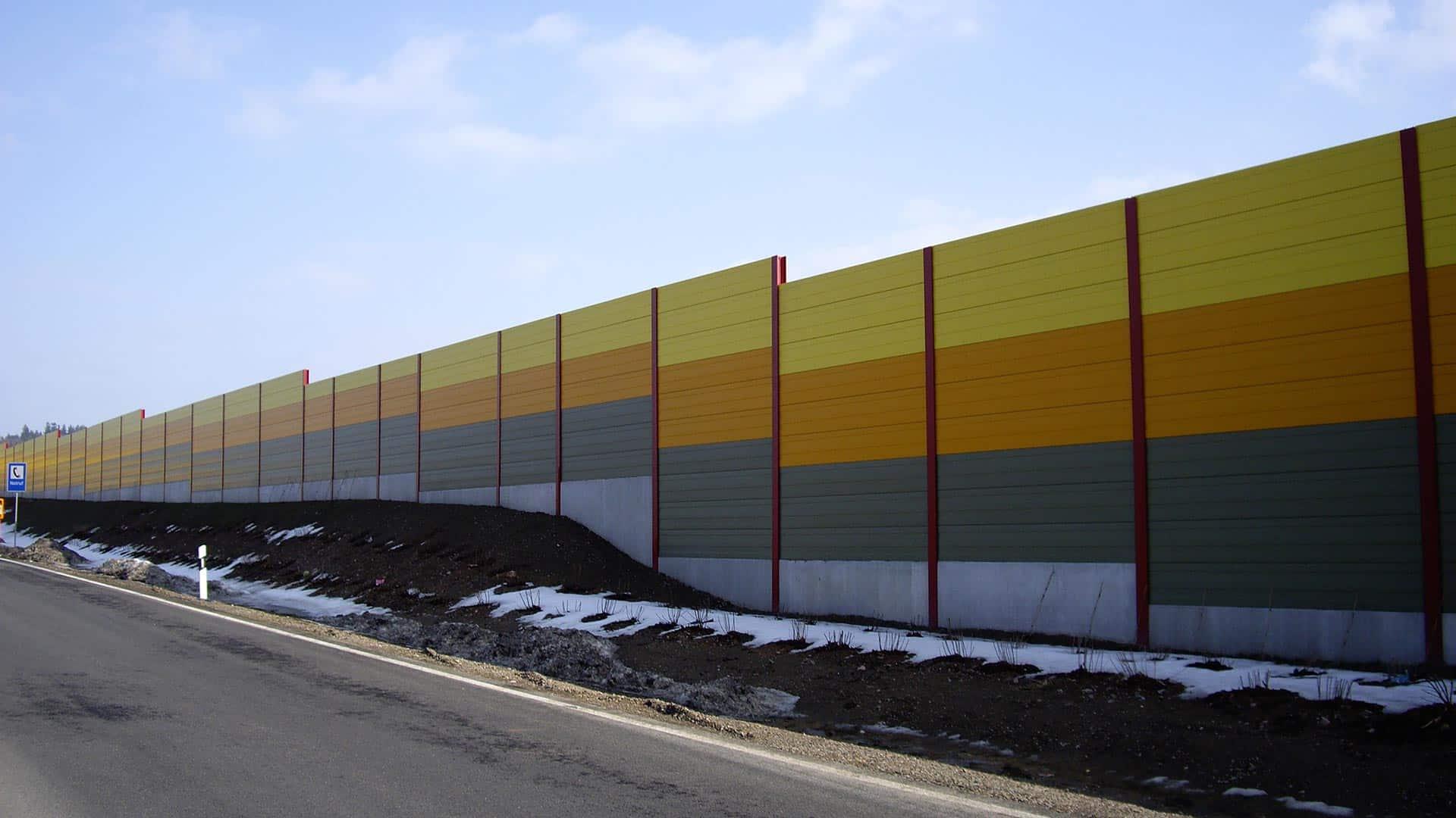 Lärmschutzwand, Aluminium, Sachsen
