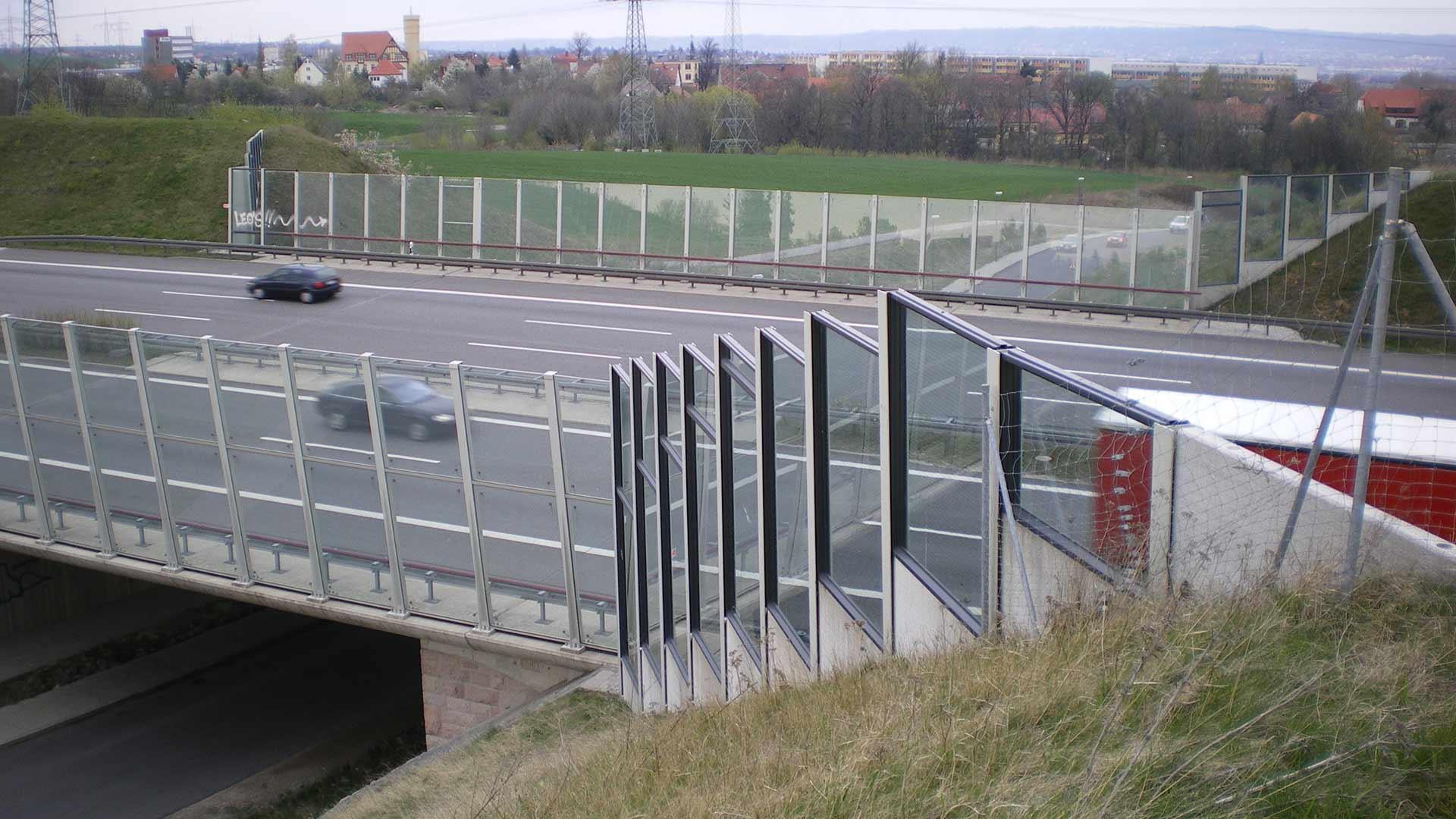 Lärmschutzwand, Glas / Acryl, Sachsen