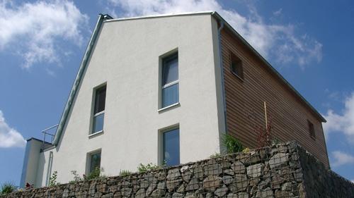 ENERGETIKhaus100® in Sachsen - Rückansicht