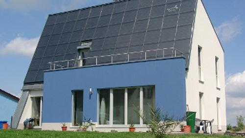 ENERGETIKhaus100® bauhaus in Sachsen - Vorderansicht