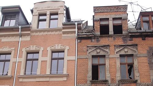 Fassadensanierung mit verschiedenen Verfahren