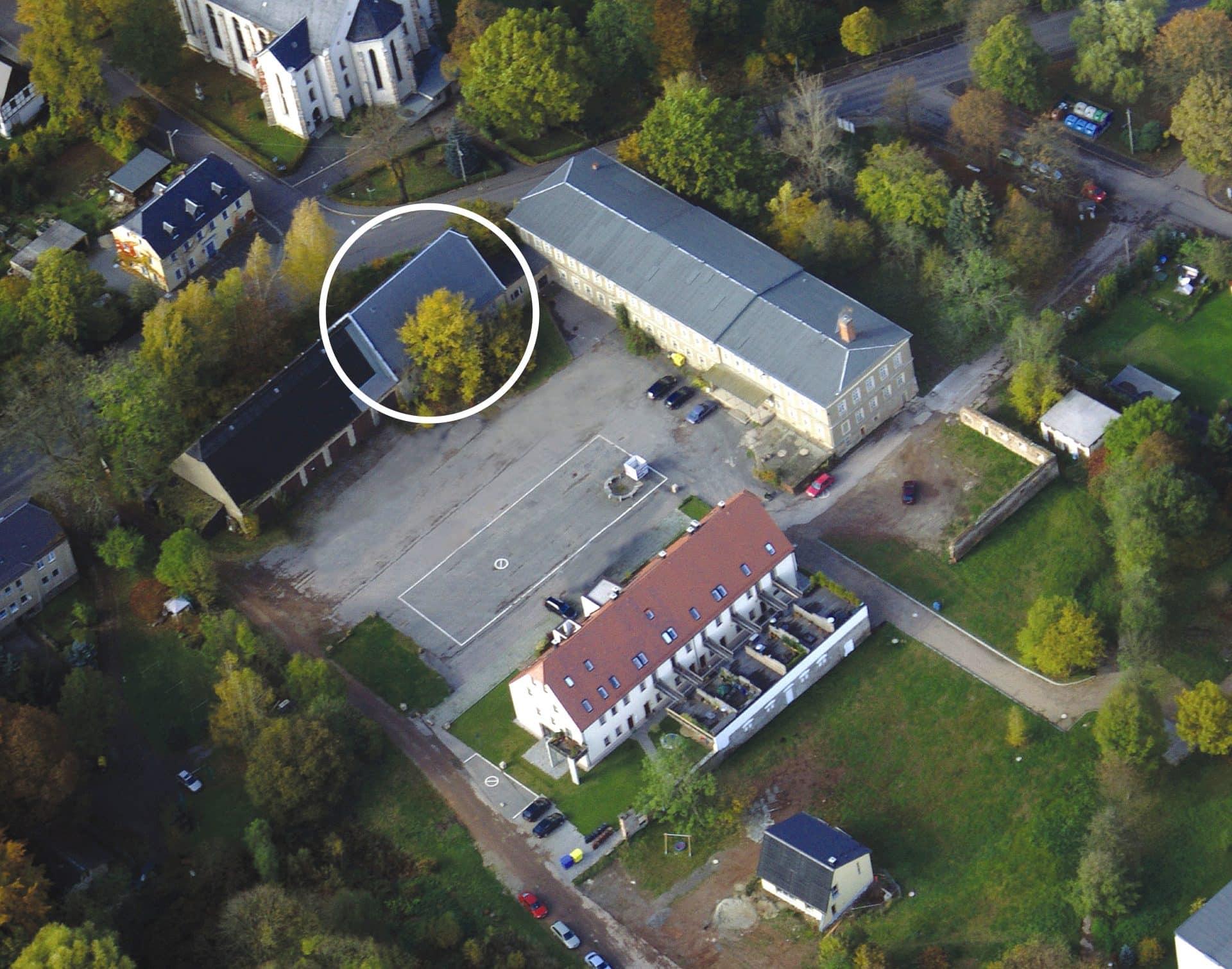 Ba Rabenstein Luftaufnahme Mit Kreis