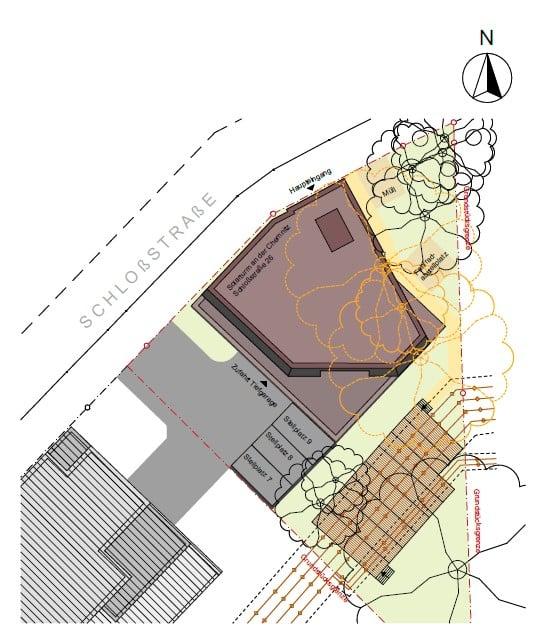 Solarturm Lageplan