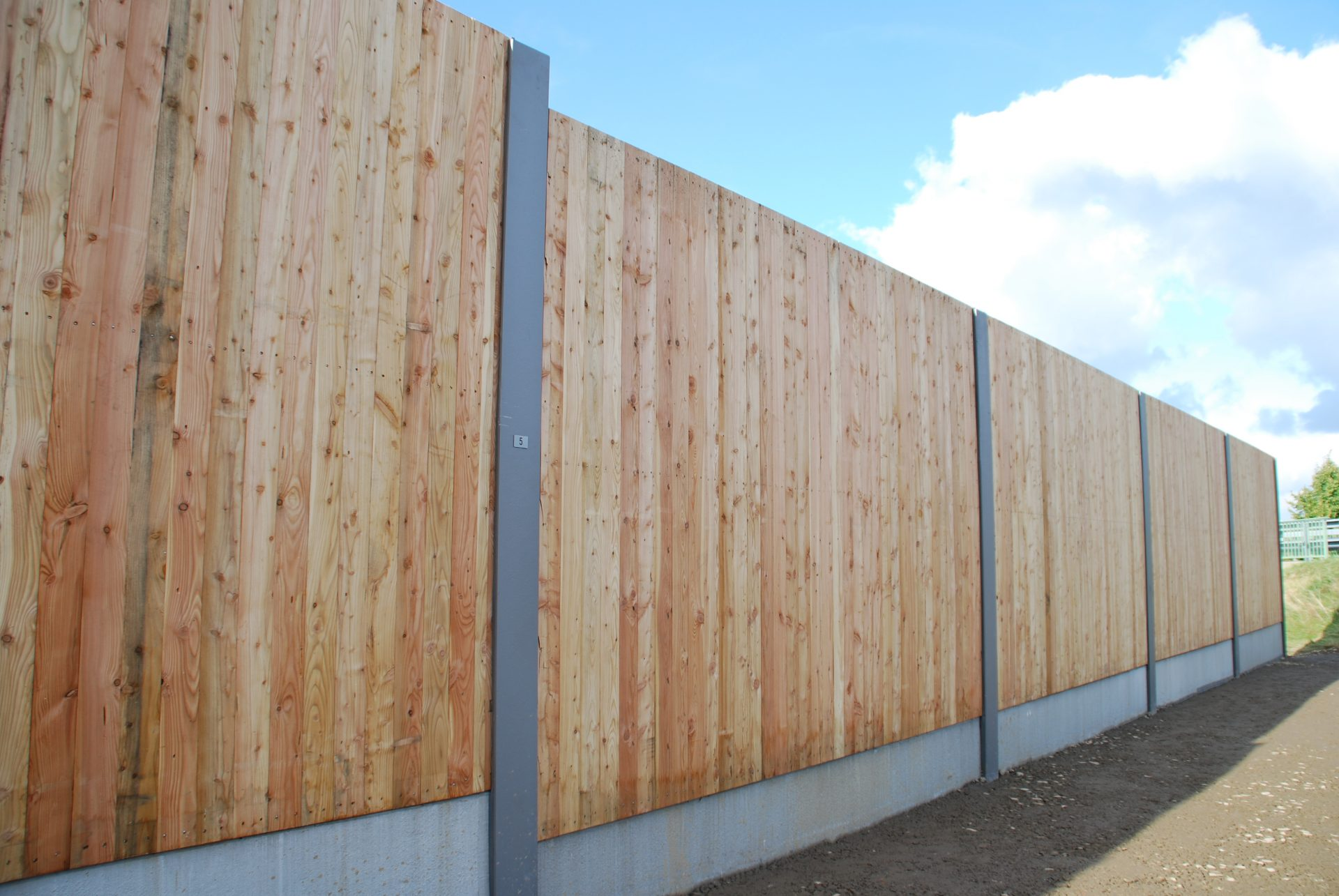 Lärmschutzwand, Holz, Sachsen